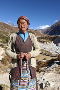 Nepali woman with rosary